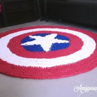 DIY - Captain America Carpet - Trapilho
